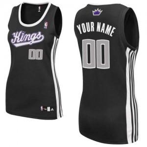 Sacramento Kings Personnalisé Adidas Alternate Noir Maillot d'équipe de NBA en vente en ligne - Authentic pour Femme