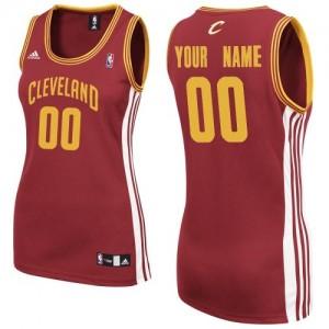 Maillot NBA Vin Rouge Swingman Personnalisé Cleveland Cavaliers Road Femme Adidas