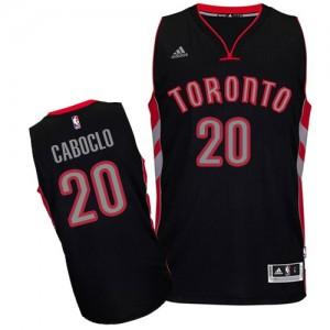 Toronto Raptors #20 Adidas Alternate Noir Swingman Maillot d'équipe de NBA pas cher - Bruno Caboclo pour Homme