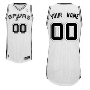 San Antonio Spurs Authentic Personnalisé Home Maillot d'équipe de NBA - Blanc pour Enfants