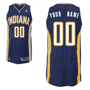 Maillot NBA Authentic Personnalisé Indiana Pacers Road Bleu marin - Homme
