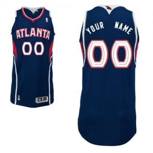 Maillot Adidas Bleu marin Road Atlanta Hawks - Authentic Personnalisé - Homme