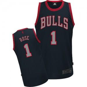 Maillot NBA Authentic Derrick Rose #1 Chicago Bulls Graystone Fashion Noir - Homme