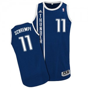 Maillot NBA Authentic Detlef Schrempf #11 Oklahoma City Thunder Alternate Bleu marin - Homme
