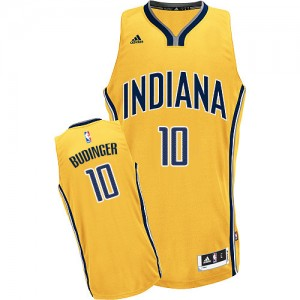Maillot NBA Indiana Pacers #10 Chase Budinger Or Adidas Swingman Alternate - Homme