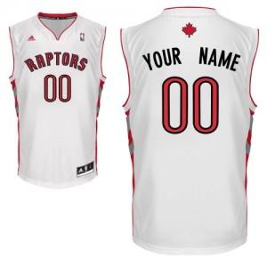 Maillot NBA Toronto Raptors Personnalisé Swingman Blanc Adidas Home - Homme