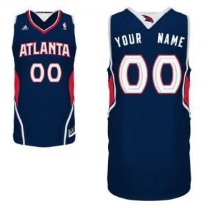 Maillot NBA Atlanta Hawks Personnalisé Swingman Bleu marin Adidas Road - Homme