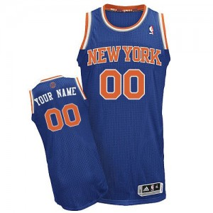 Maillot Adidas Bleu royal Road New York Knicks - Authentic Personnalisé - Homme