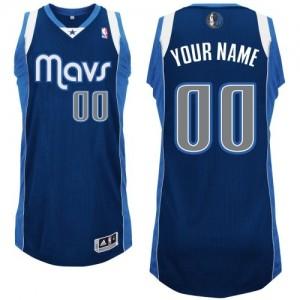 Dallas Mavericks Authentic Personnalisé Alternate Maillot d'équipe de NBA - Bleu marin pour Homme