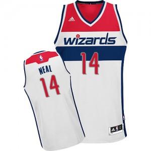 Washington Wizards Gary Neal #14 Home Swingman Maillot d'équipe de NBA - Blanc pour Homme