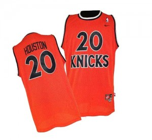 Maillot NBA Orange Allan Houston #20 New York Knicks Throwback Swingman Homme Nike