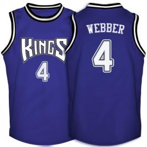Sacramento Kings #4 Adidas Throwback Violet Authentic Maillot d'équipe de NBA préférentiel - Chris Webber pour Homme