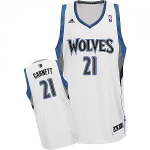 Maillot Adidas Blanc Home Swingman Minnesota Timberwolves - Kevin Garnett #21 - Homme