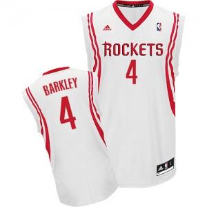 Maillot NBA Blanc Charles Barkley #4 Houston Rockets Home Swingman Homme Adidas