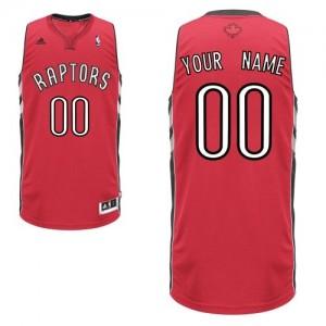 Maillot Adidas Rouge Road Toronto Raptors - Swingman Personnalisé - Homme