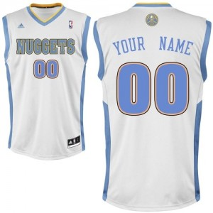 Maillot NBA Swingman Personnalisé Denver Nuggets Home Blanc - Enfants