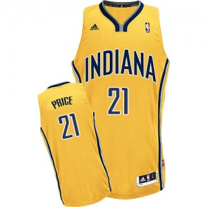 Indiana Pacers A.J. Price #21 Alternate Swingman Maillot d'équipe de NBA - Or pour Homme
