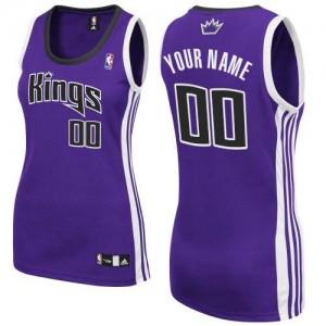 Sacramento Kings Authentic Personnalisé Road Maillot d'équipe de NBA - Violet pour Femme