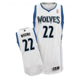 Maillot NBA Blanc Andrew Wiggins #22 Minnesota Timberwolves Home Authentic Homme Adidas