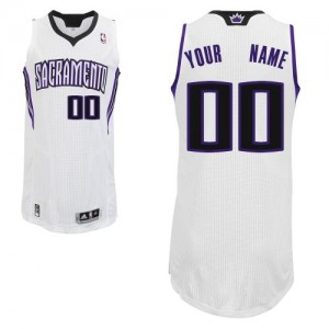 Sacramento Kings Authentic Personnalisé Home Maillot d'équipe de NBA - Blanc pour Homme