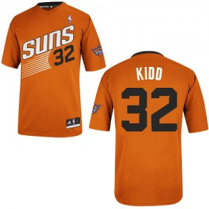Maillot NBA Phoenix Suns #32 Jason Kidd Orange Adidas Authentic Alternate - Homme