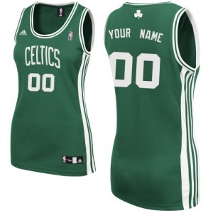 Maillot NBA Swingman Personnalisé Boston Celtics Road Vert (No Blanc) - Femme