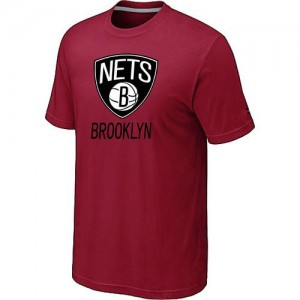 T-shirt principal de logo Brooklyn Nets NBA Big & Tall Rouge - Homme
