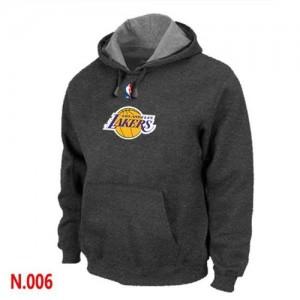 Los Angeles Lakers Gris foncé Sweat à capuche d'équipe de NBA Soldes discount - pour Homme