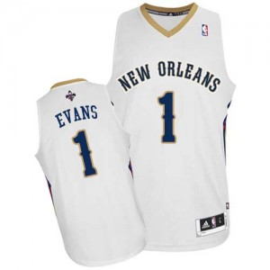 Maillot NBA New Orleans Pelicans #1 Tyreke Evans Blanc Adidas Authentic Home - Homme