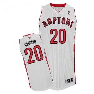 Toronto Raptors Bruno Caboclo #20 Home Authentic Maillot d'équipe de NBA - Blanc pour Homme