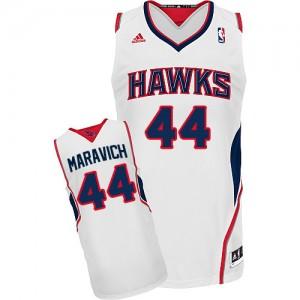 Atlanta Hawks Pete Maravich #44 Home Swingman Maillot d'équipe de NBA - Blanc pour Homme