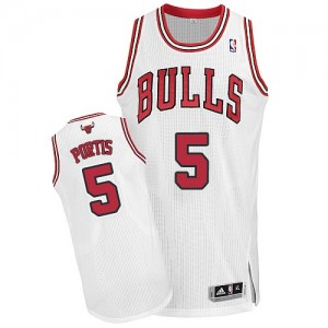 Maillot NBA Blanc Bobby Portis #5 Chicago Bulls Home Authentic Homme Adidas