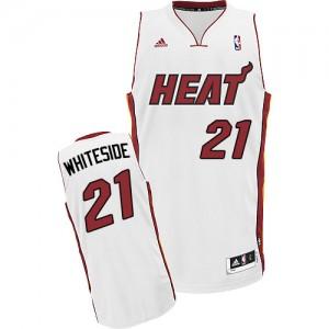 Maillot NBA Swingman Hassan Whiteside #21 Miami Heat Home Blanc - Homme