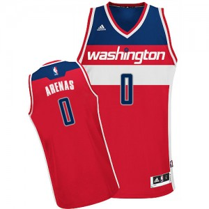 Maillot Adidas Rouge Road Swingman Washington Wizards - Gilbert Arenas #0 - Homme