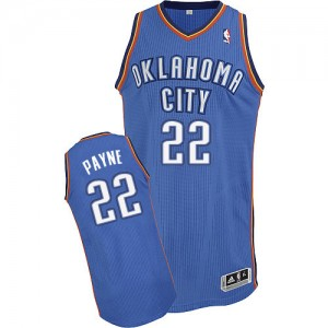 Maillot NBA Authentic Cameron Payne #22 Oklahoma City Thunder Road Bleu royal - Homme