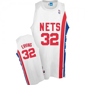Maillot NBA Blanc Julius Erving #32 Brooklyn Nets Throwback ABA Retro Swingman Homme Adidas