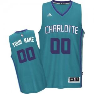 Maillot NBA Charlotte Hornets Personnalisé Swingman Bleu clair Adidas Road - Homme