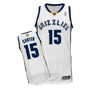 Maillot Adidas Blanc Home Authentic Memphis Grizzlies - Vince Carter #15 - Homme