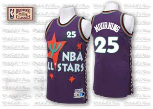 Charlotte Hornets #25 Adidas Throwback 1995 All Star Violet Authentic Maillot d'équipe de NBA Expédition rapide - Alonzo Mourning pour Homme