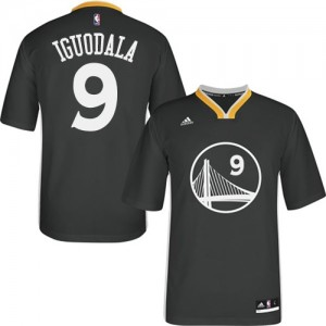 Maillot Adidas Noir Alternate Authentic Golden State Warriors - Andre Iguodala #9 - Homme