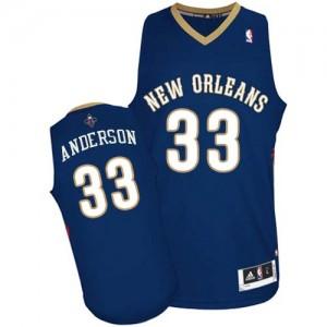 New Orleans Pelicans #33 Adidas Road Bleu marin Authentic Maillot d'équipe de NBA à vendre - Ryan Anderson pour Homme
