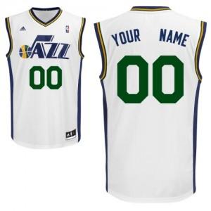Maillot NBA Utah Jazz Personnalisé Swingman Blanc Adidas Home - Enfants