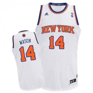 Maillot Swingman New York Knicks NBA Home Blanc - #14 Anthony Mason - Homme