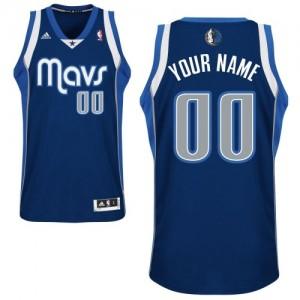 Dallas Mavericks Personnalisé Adidas Alternate Bleu marin Maillot d'équipe de NBA Vente - Swingman pour Enfants