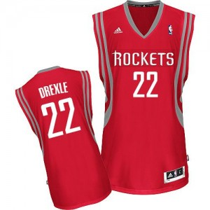 Maillot NBA Houston Rockets #22 Clyde Drexler Rouge Adidas Swingman Road - Homme
