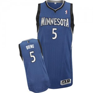 Maillot NBA Authentic Gorgui Dieng #5 Minnesota Timberwolves Road Slate Blue - Homme