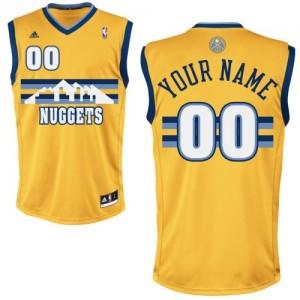 Denver Nuggets Personnalisé Adidas Alternate Or Maillot d'équipe de NBA Vente - Swingman pour Femme