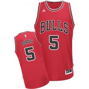 Chicago Bulls #5 Adidas Road Rouge Swingman Maillot d'équipe de NBA vente en ligne - Bobby Portis pour Homme