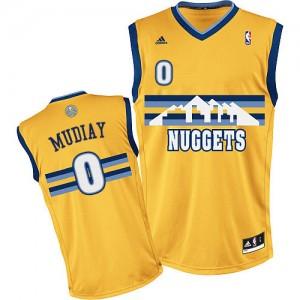 Maillot NBA Or Emmanuel Mudiay #0 Denver Nuggets Alternate Swingman Homme Adidas