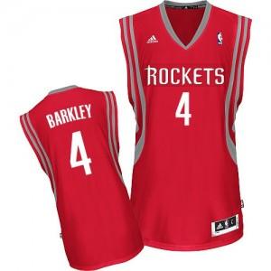 Houston Rockets Charles Barkley #4 Road Swingman Maillot d'équipe de NBA - Rouge pour Homme